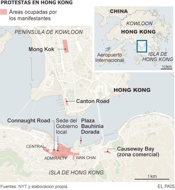 El líder de Hong Kong hace un gesto a los estudiantes prodemocracia