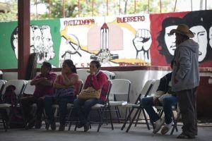 La cancha de baloncesto del centro de Iguala.