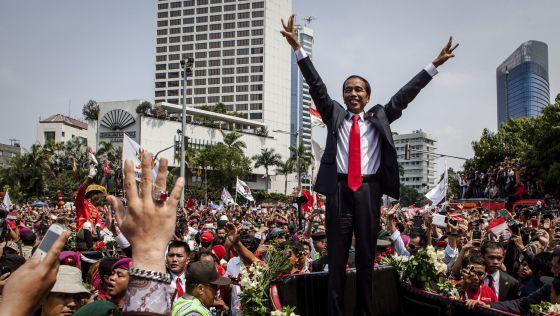 El presidente de Indonesia, Joko Widodo, en su toma de posesión.