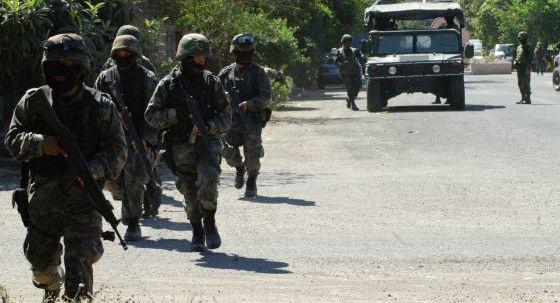 Patrulla del Ejército mexicano en la labores contra el narcotráfico.
