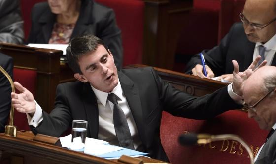 El primer ministro francés, en la Asamblea Nacional el 22 de octubre