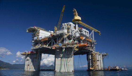 Una plataforma petrolera de la compañía Petrobras.