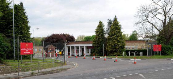 Cuartel de Bassingbourn, en Cambridge, que albergó a los soldados libios.