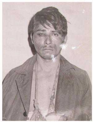 Eliseo de Jesús de la Cruz, de Atoyac (Guerrero), detenido por la DFS en 1971, tras ser detenido sin orden judicial.
