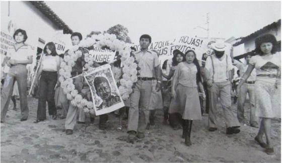 Manifestación en San Luis Acatlán (Guerrero), en 1980.