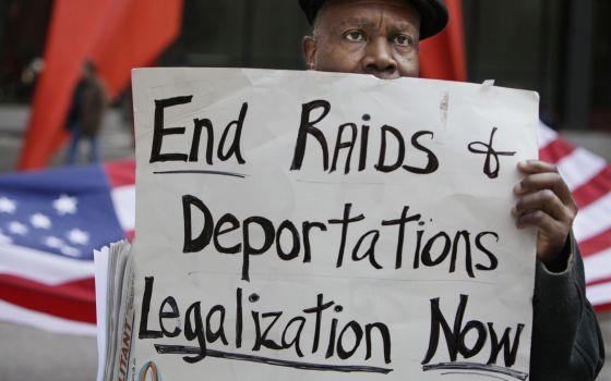 Manifestación por el fin de las deportaciones en Chicago.