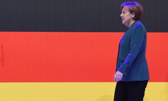 Angela Merkel, en abril en Hanover.