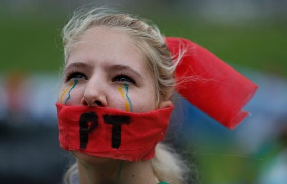 Una manifestante contra la corrupción el pasado 15 de noviembre.