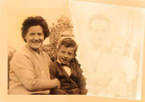 Familia amputada: después del amianto solo quedan Romana y su hijo Ottavio.
