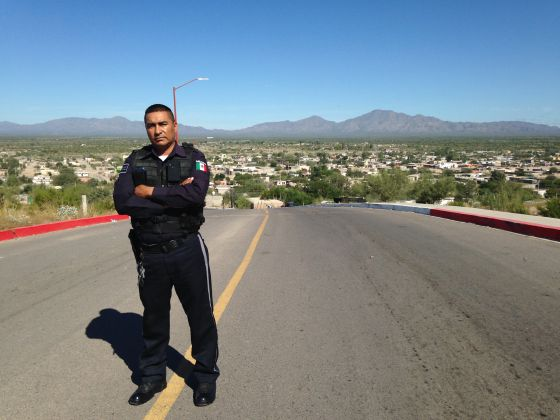 Manuel Vázquez, policía municipal de Caborca (Sonora)
