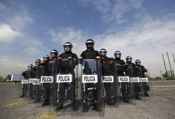 Agentes de la policía del DF, el pasado 15 de octubre.