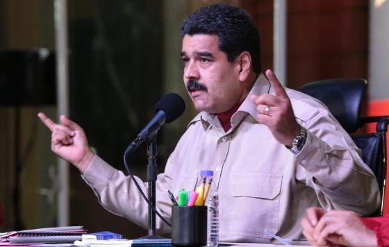 El mandatario venezolano, Nicolás Maduro, durante un acto este viernes en Caracas.