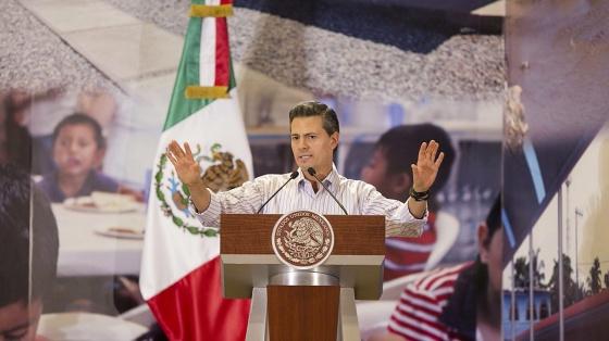 El presidente Enrique Peña Nieto, el pasado jueves durante un acto en Guerrero en el que anunció medidas para reactivar la economía del Estado.