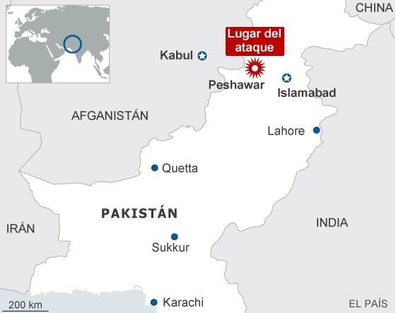Al menos 132 escolares muertos en un ataque talibán en Pakistán