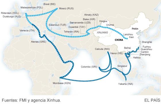 Las nuevas rutas chinas de la seda