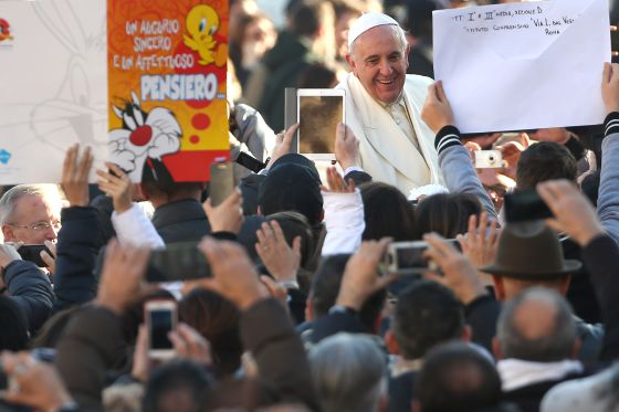El Papa, el día de su cumpleaños, el 17 de diciembre.