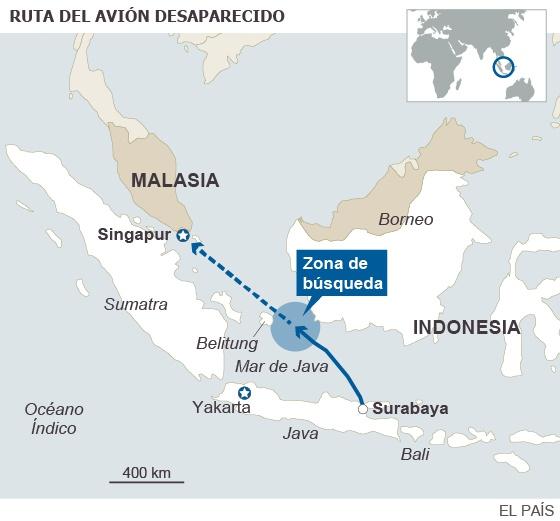 """Indonesia dice que el avión perdido podría estar """"en el fondo del mar"""""""