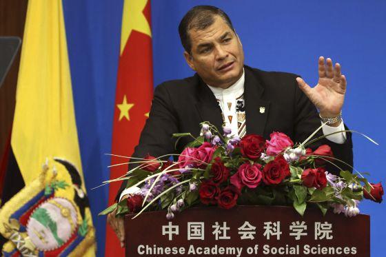 El presidente del Ecuador, Rafael Correa
