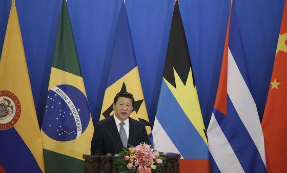 El presidente chino, Xi Jinping, este jueves en el primer foro ministerial entre China y la CELAC.