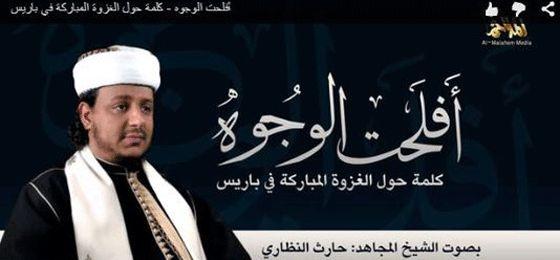 Fotograma del vídeo difundido por Al Qaeda con nuevas amenazas a Francia.
