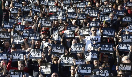 Asistentes a un partido de rugby en Toulon (Francia)