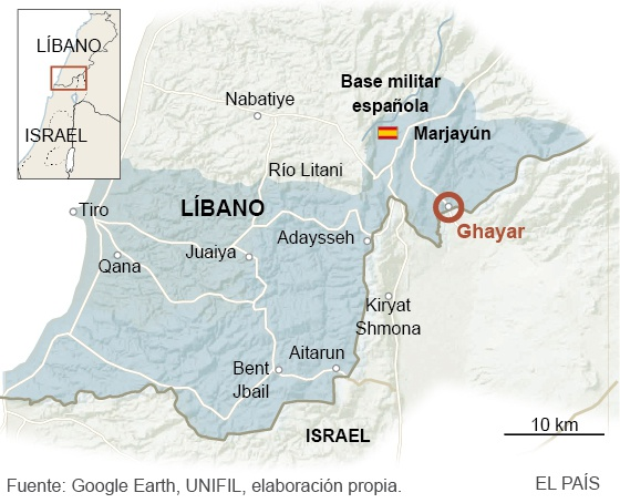 Un cabo español cae bajo fuego israelí