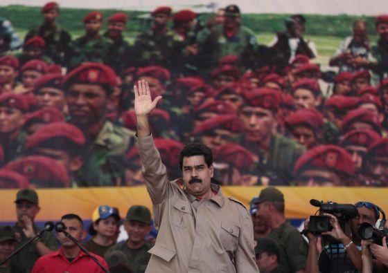 Maduro, en un acto de las fuerzas armadas venezolanas