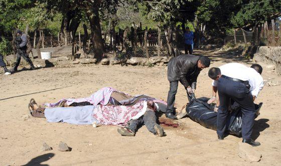 Masacre en Platanar de los Ontiveros, en Sinaloa, en 2012.