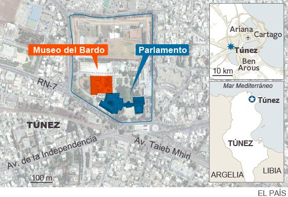 17 extranjeros y dos tunecinos mueren en un atentado en Túnez