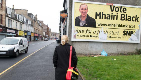 Mhairi Black, candidata del Partido Nacionalista Escocés (SNP)