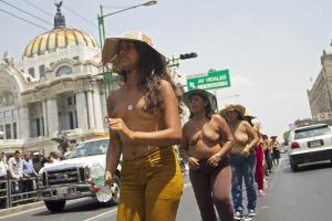 Protesta de Los 400 Pueblos en medio del Eje Central.
