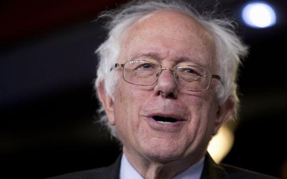 El senador independiente y ahora candidato demócrata Bernie Sanders