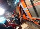 Choque de dos trenes en la estación de Oceanía en la Ciudad de México