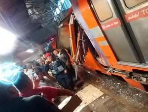 Un choque en el metro de México deja al menos 12 heridos