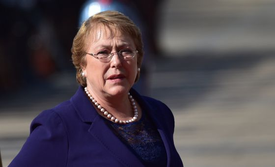 Michelle Bachelet, el pasado abril en Santiago.