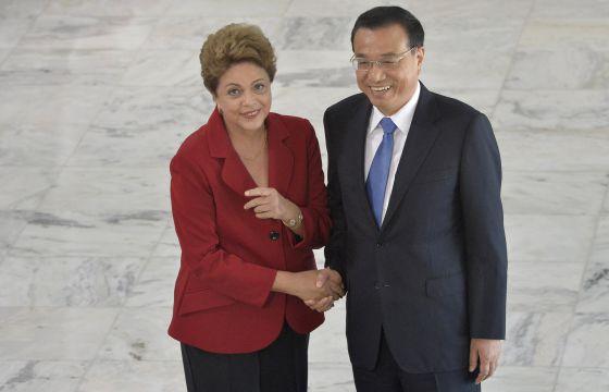 Rousseff y Li este martes en el palacio presidencia el Brasilia.