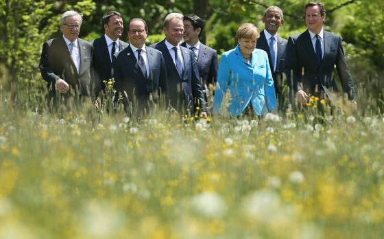 Los líderes del G-7 durante la reunión que han celebrado en Alemania.
