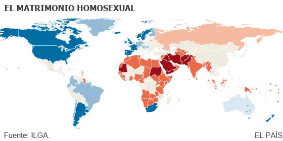 Estados Unidos con matrimonio homosexual
