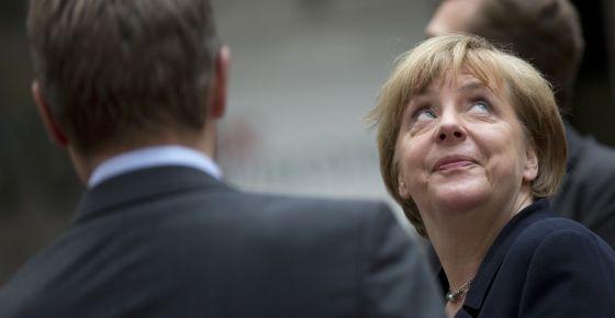 La canciller Angela Merkel, en la cumbre del euro convocada en Bruselas el 7 de julio.