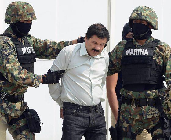 Detención de El Chapo en febrero de 2014.