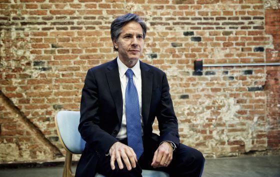 Antony Blinken, número dos de John Kerry, este lunes en Madrid durante la entrevista.