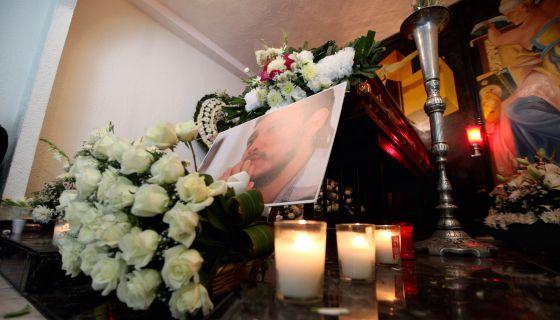 Velorio de Rubén Espinosa, el periodista asesinado en México DF.