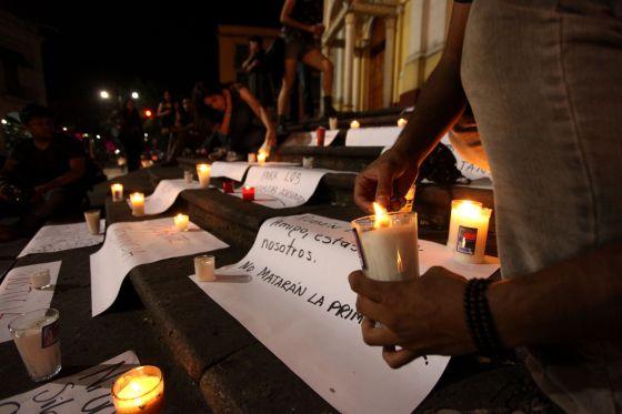 Vigilia por Rubén Espinosa, periodista asesinado.