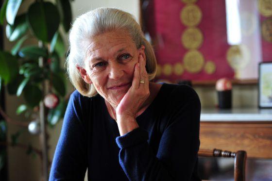 Élisabeth Badinter, durante la entrevista en su casa en París.