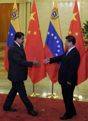 Los presidentes chino y venezolano, el pasado martes.