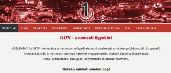 Comunicado de N1TV para despedir a Petra Laszlo