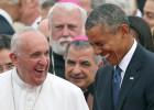 El Papa visita a Obama en la Casa Blanca en su primer acto en EE UU