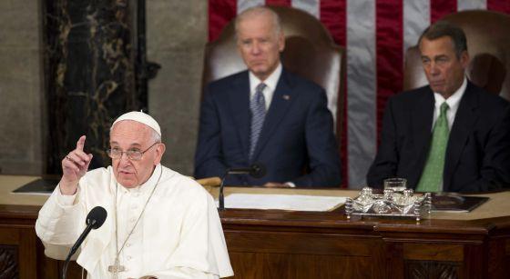 El papa Francisco en el Congreso estadounidens
