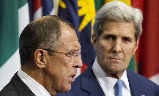 Sergei Lavrov y John Kerry este miércoles.