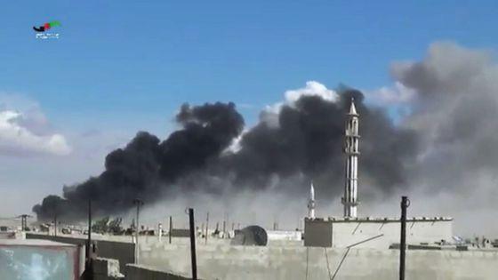 Fragmento de un vídeo que muestra un ataque ruso en Siria